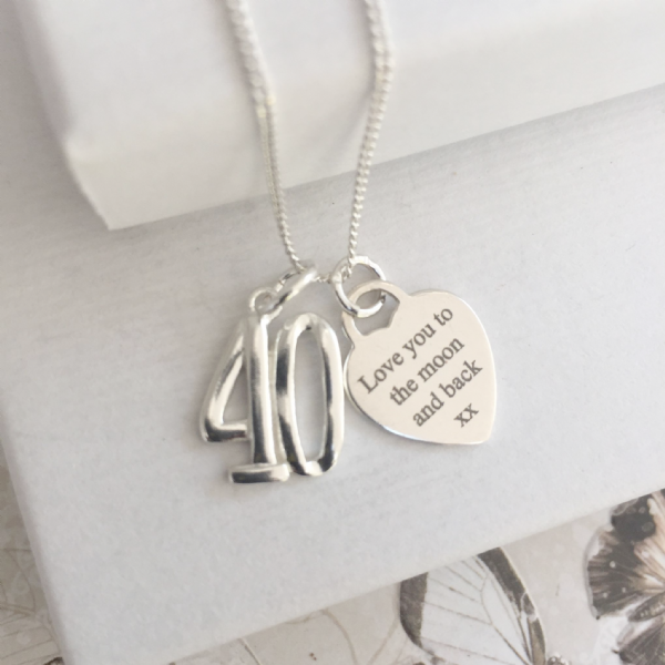 40th birthday gift for a special auntie  - FREE ENGRAVING